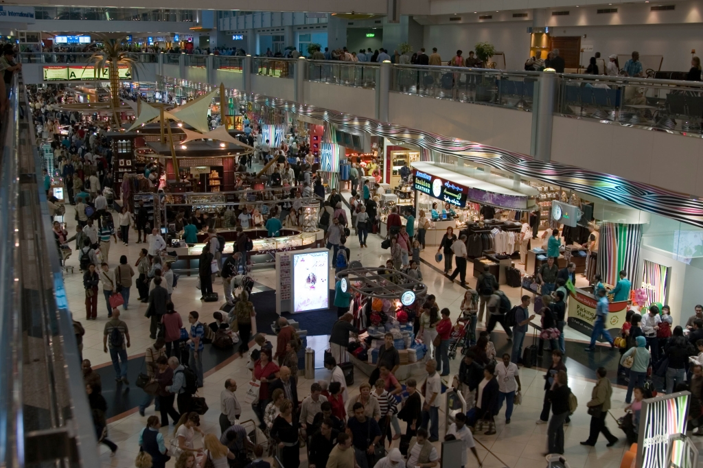 Shopping chaos at Dubai Airport