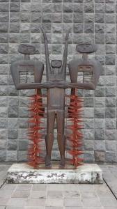 art by Guayasamin, Ecuador's most famous artist. Quito, Ecuador January 2015