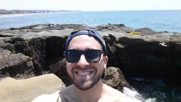 Selfie on the Ecuadorian coast