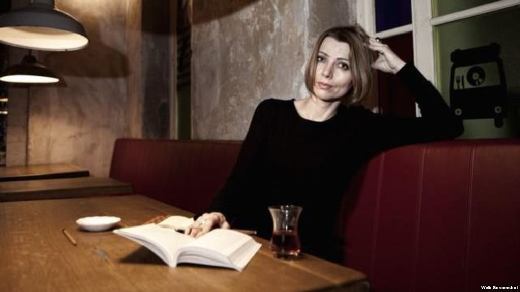 Elif Shafak with a novel essay